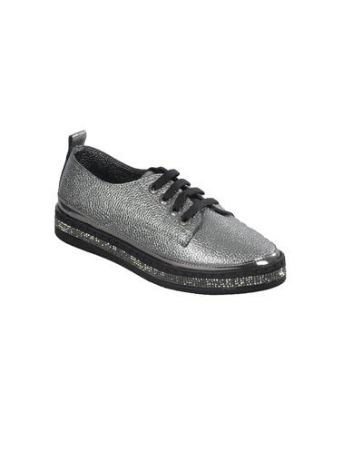 Mhd 2513 Platin Kadın Günlük Ayakkabı Gümüş